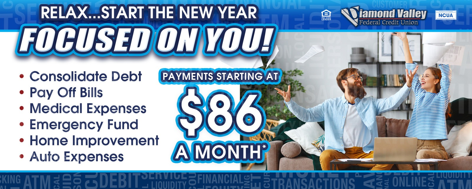 Payments on Personal Loans start as low as $86 per month!