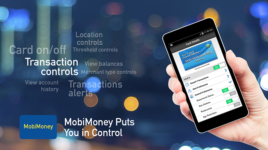 Control your DVFCU Debit Card With MobiMoney!