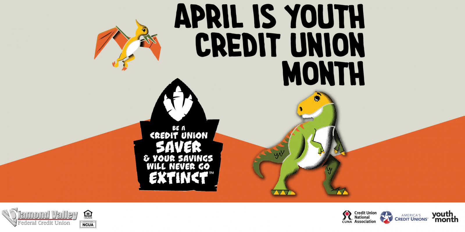 April is Youth Credit Union Month. Teach your kids the value of savings with Divy's Savings Account at Diamond Valley!