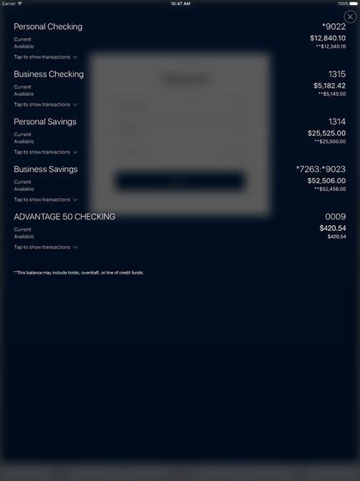 DVFCU App for Apple iPad