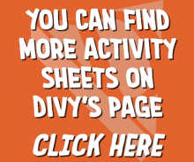 You Can Find More Activity Sheets on Divy's Page! Click Here!